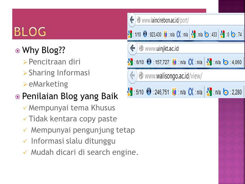 Blog Why Blog Penilaian Blog yang Baik Pencitraan diri