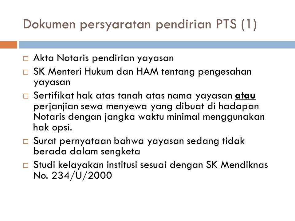 Dokumen persyaratan pendirian PTS (1)