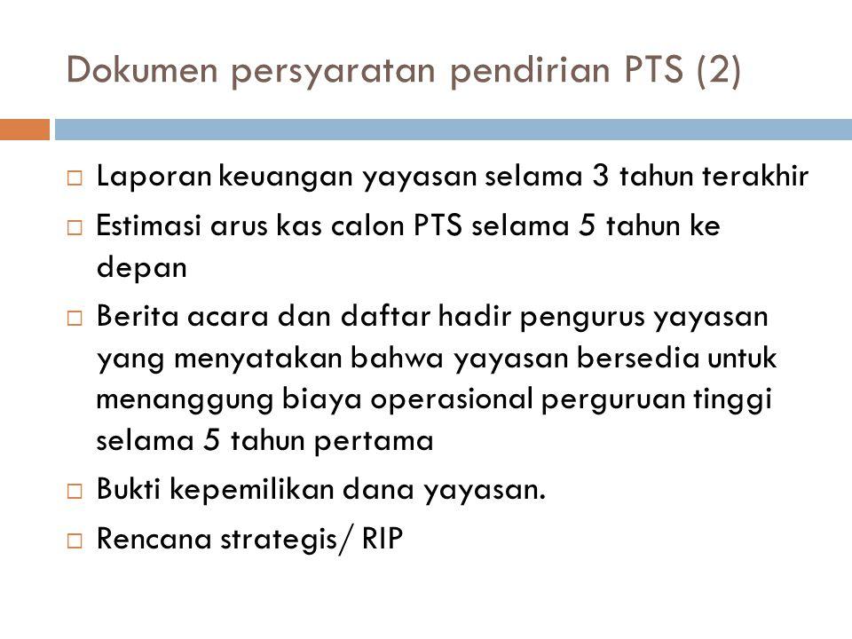 Dokumen persyaratan pendirian PTS (2)