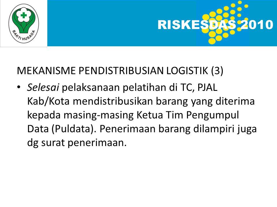 RISKESDAS 2010 MEKANISME PENDISTRIBUSIAN LOGISTIK (3)