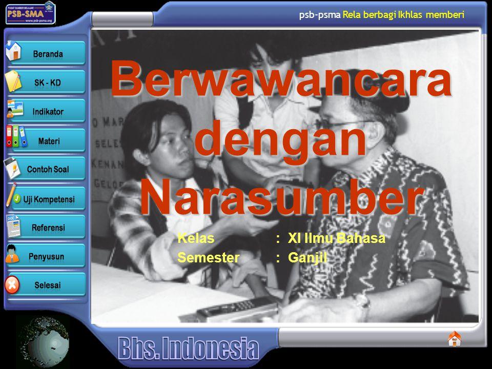 Berwawancara dengan Narasumber