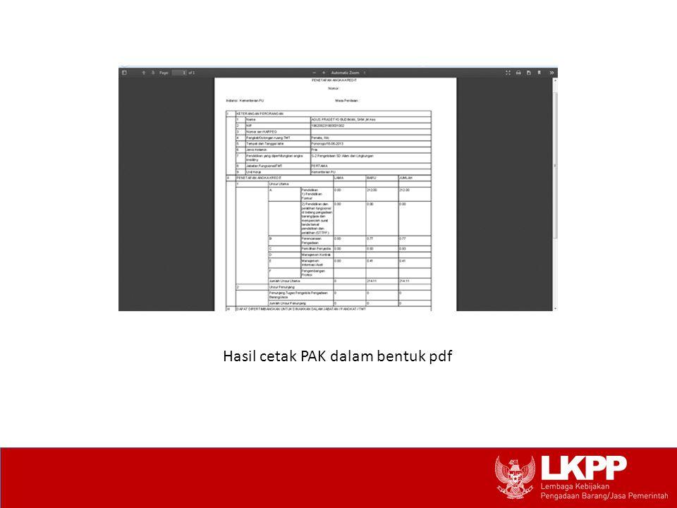 Hasil cetak PAK dalam bentuk pdf