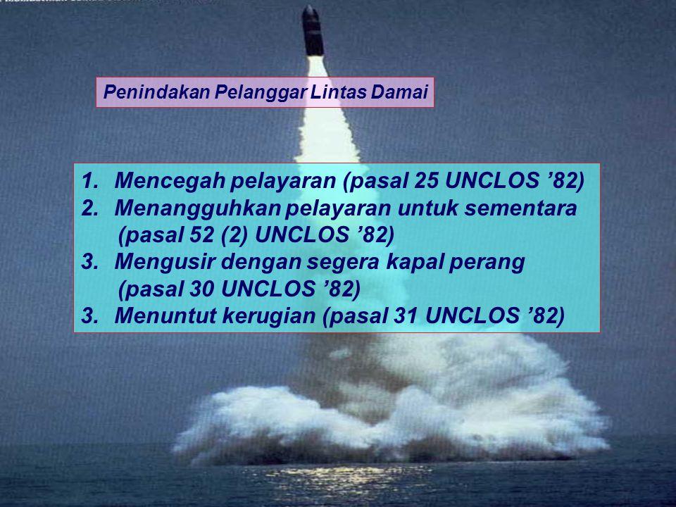 Mencegah pelayaran (pasal 25 UNCLOS '82)