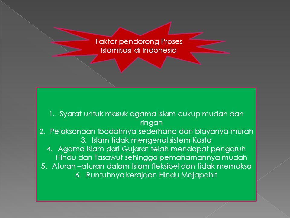 Faktor pendorong Proses Islamisasi di Indonesia