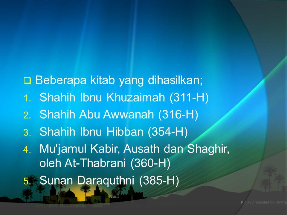 Beberapa kitab yang dihasilkan;