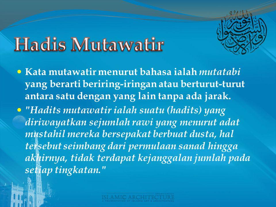 Hadis Mutawatir