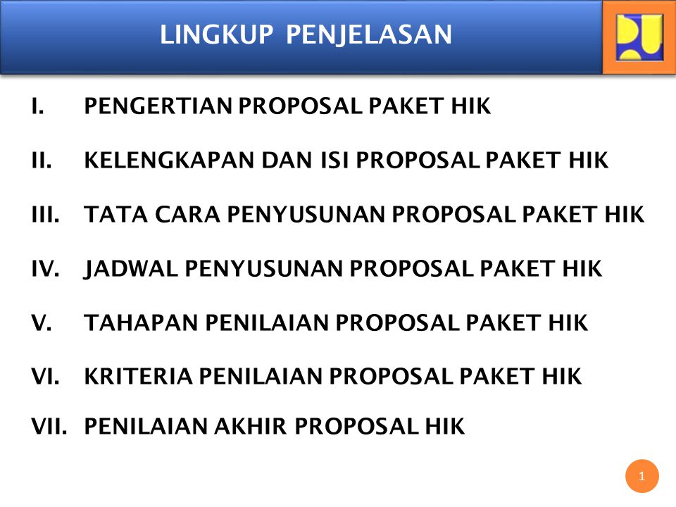 PENGERTIAN PROPOSAL PAKET HIK