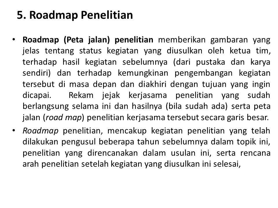 5. Roadmap Penelitian
