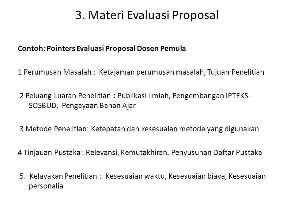 3. Materi Evaluasi Proposal