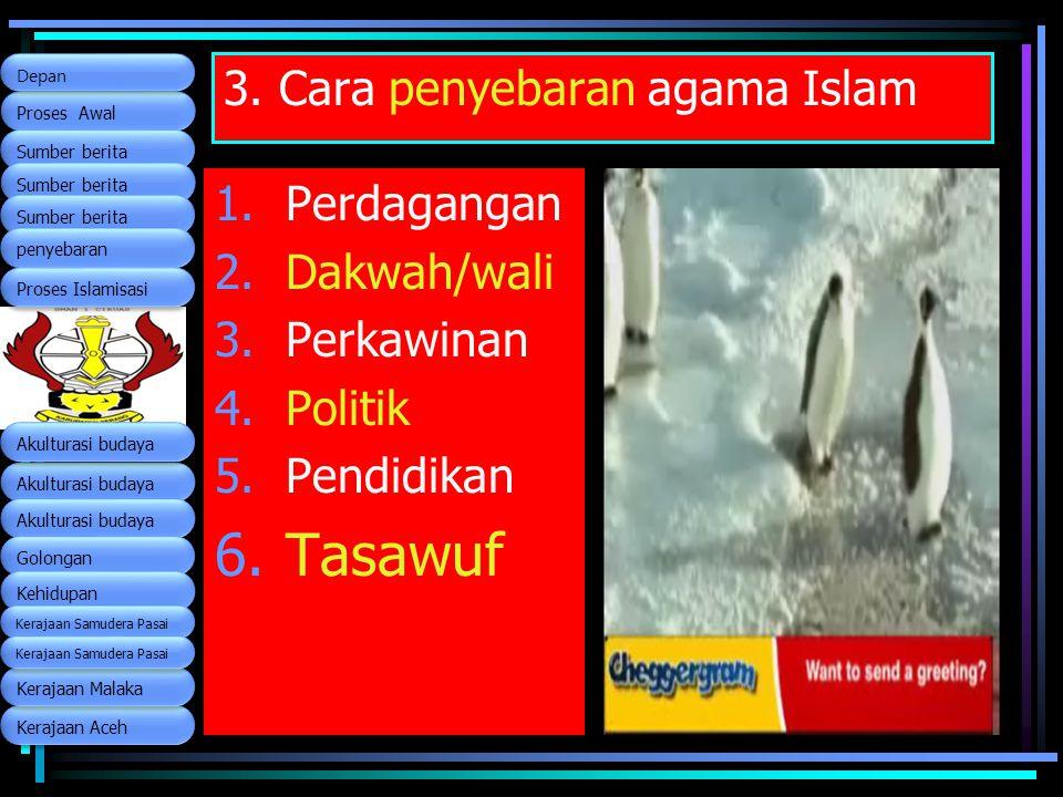 3. Cara penyebaran agama Islam