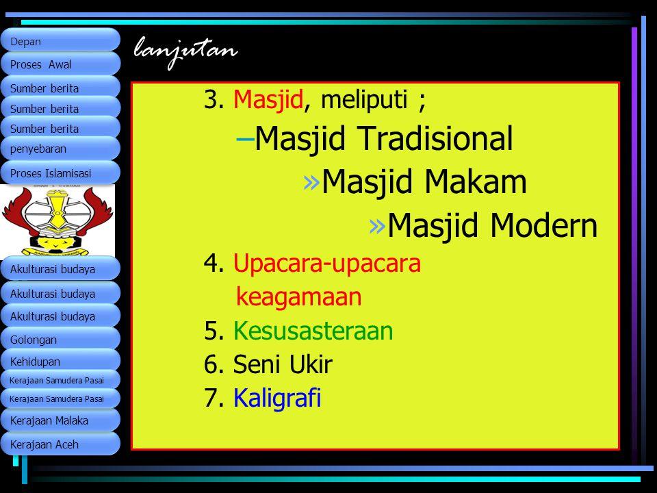 lanjutan Masjid Tradisional Masjid Makam Masjid Modern