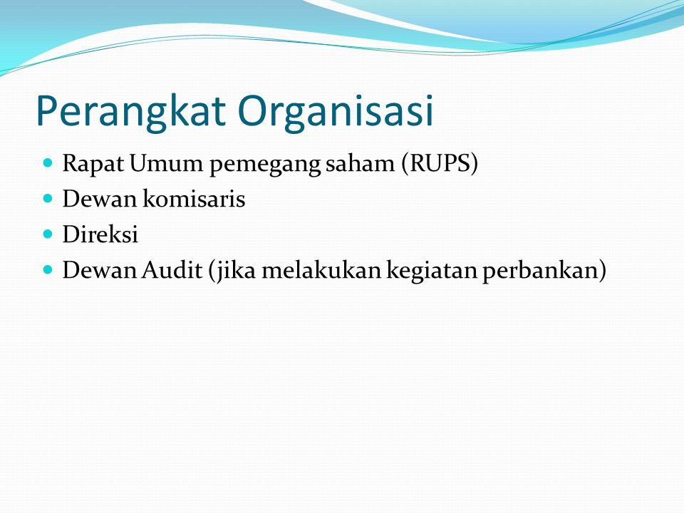 Perangkat Organisasi Rapat Umum pemegang saham (RUPS) Dewan komisaris