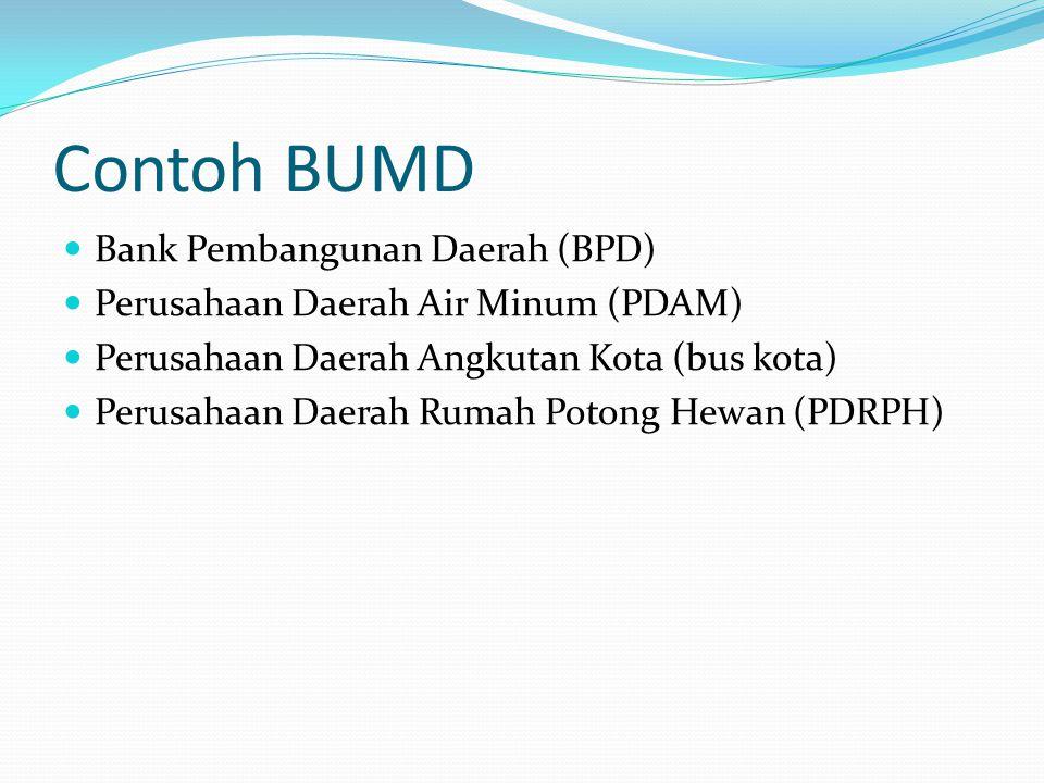 Contoh BUMD Bank Pembangunan Daerah (BPD)