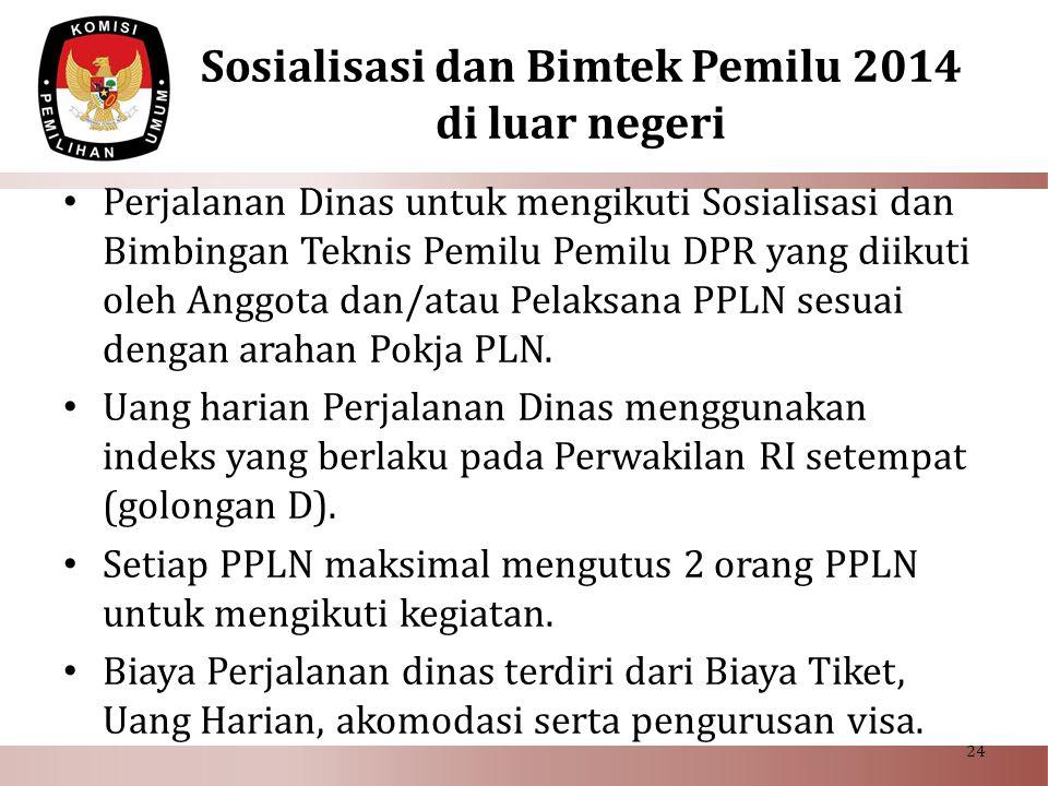 Sosialisasi dan Bimtek Pemilu 2014 di luar negeri