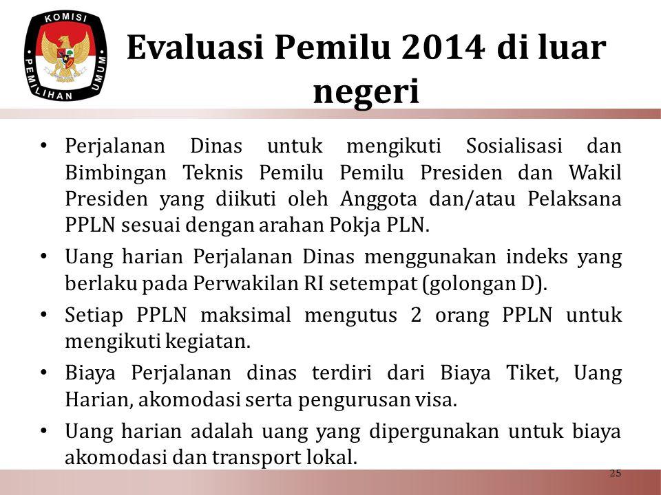 Evaluasi Pemilu 2014 di luar negeri
