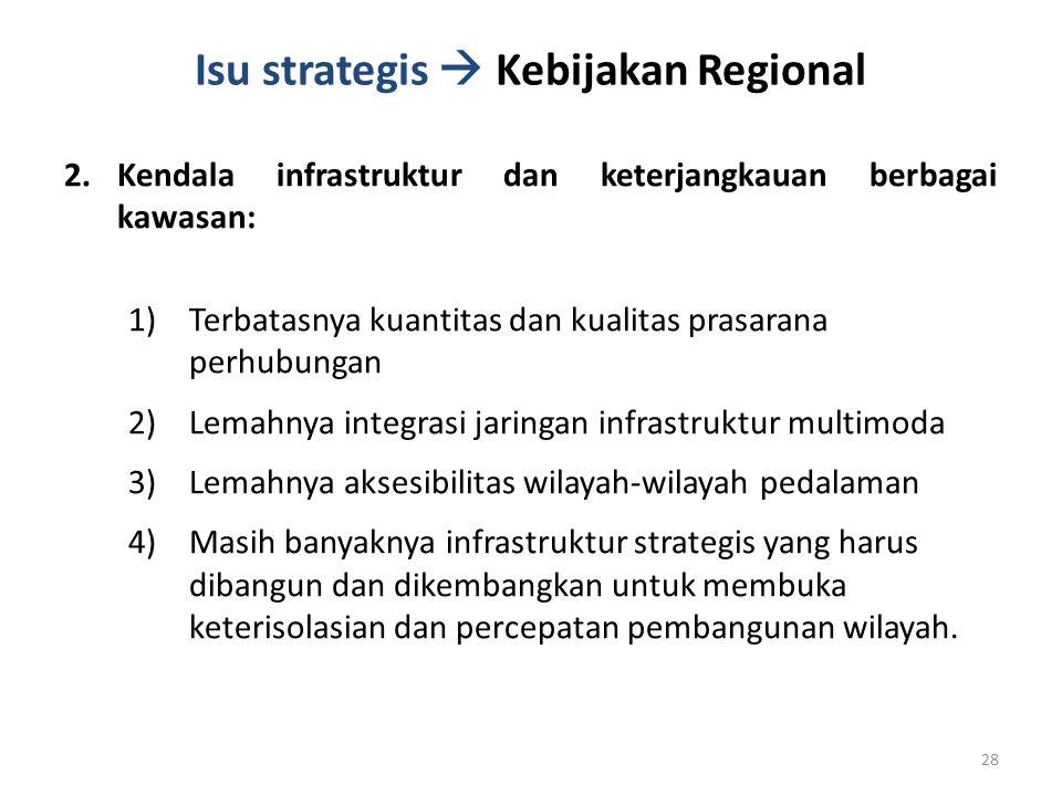 Isu strategis  Kebijakan Regional