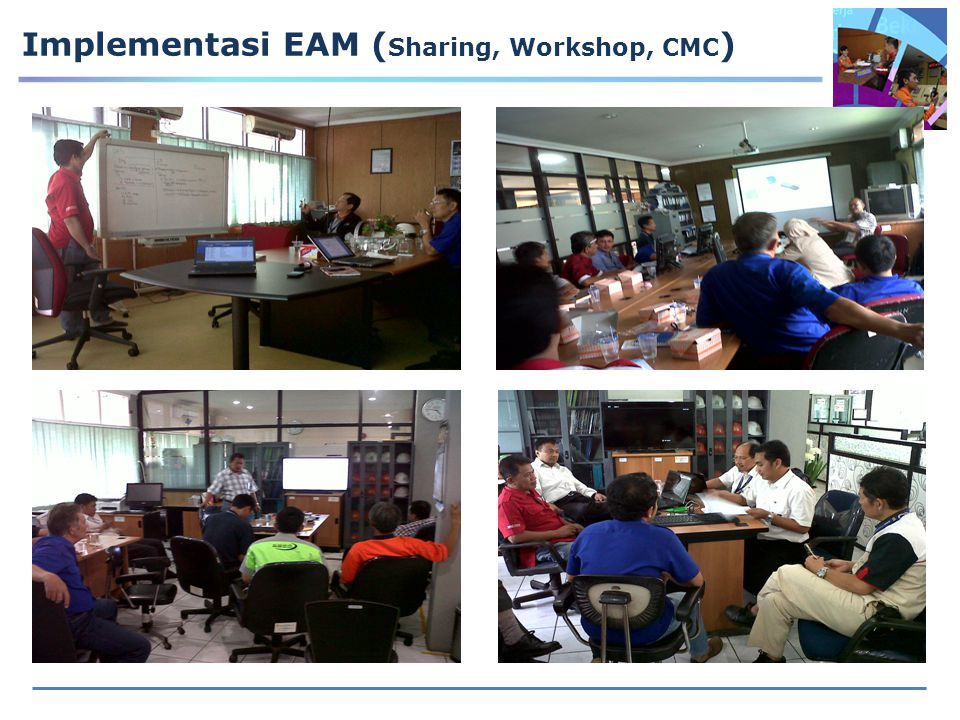 Implementasi EAM (Sharing, Workshop, CMC)