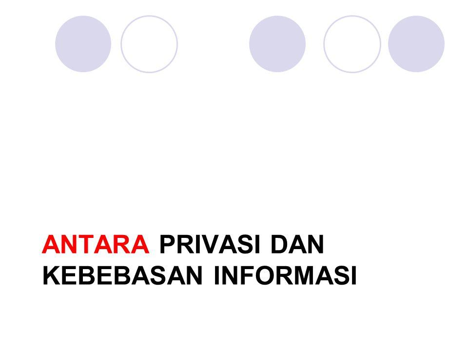 ANTARA Privasi dan kebebasan informasi