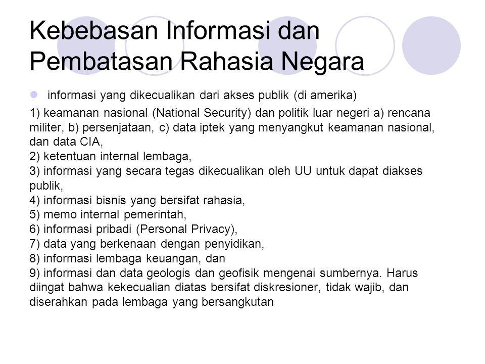 Kebebasan Informasi dan Pembatasan Rahasia Negara