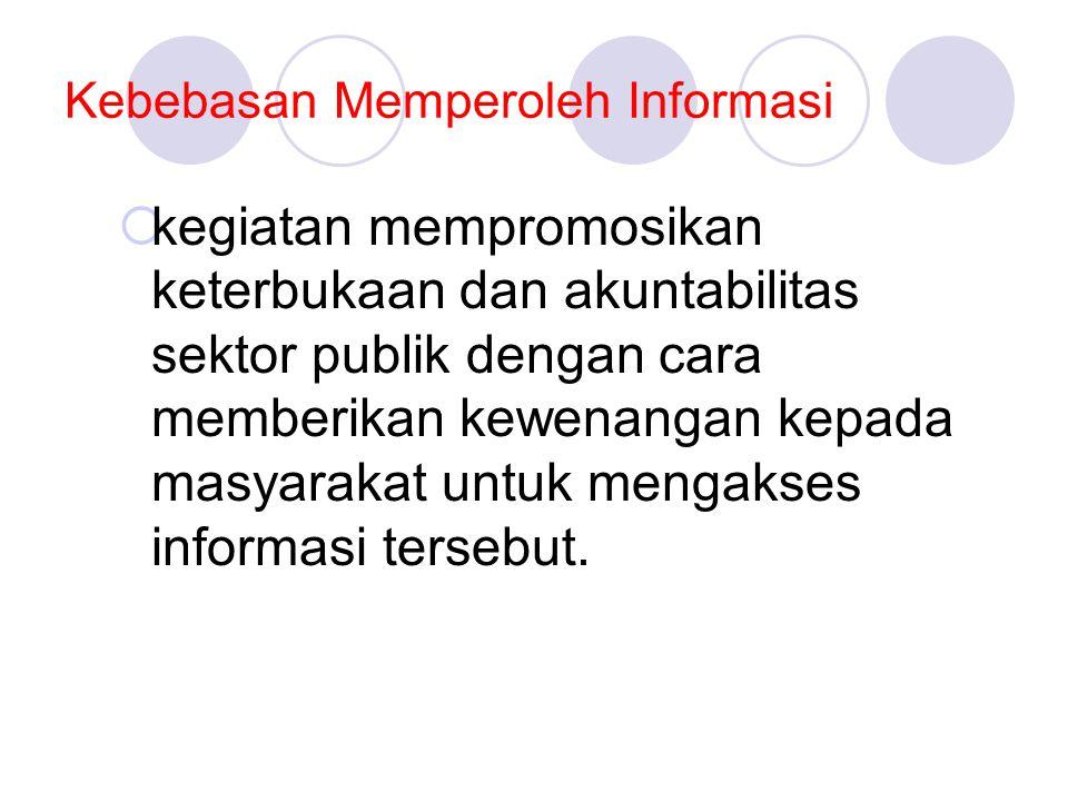 Kebebasan Memperoleh Informasi