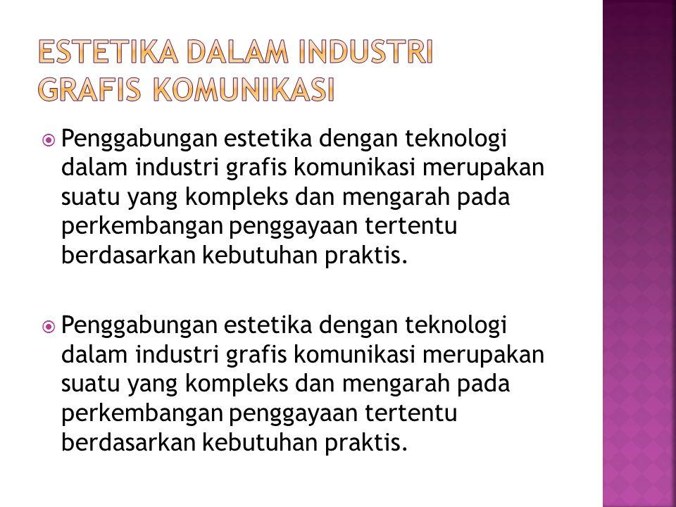 Estetika dalam Industri Grafis Komunikasi