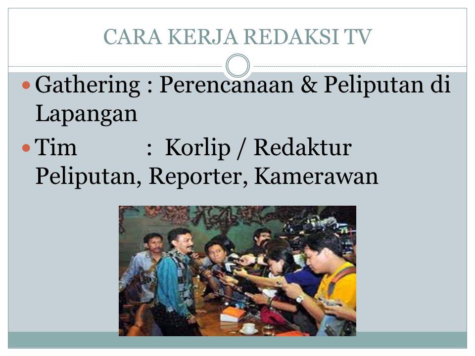 Gathering : Perencanaan & Peliputan di Lapangan