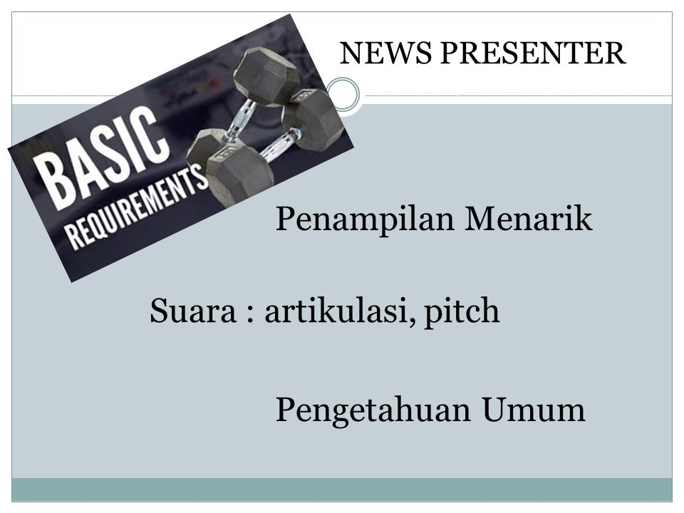 Suara : artikulasi, pitch