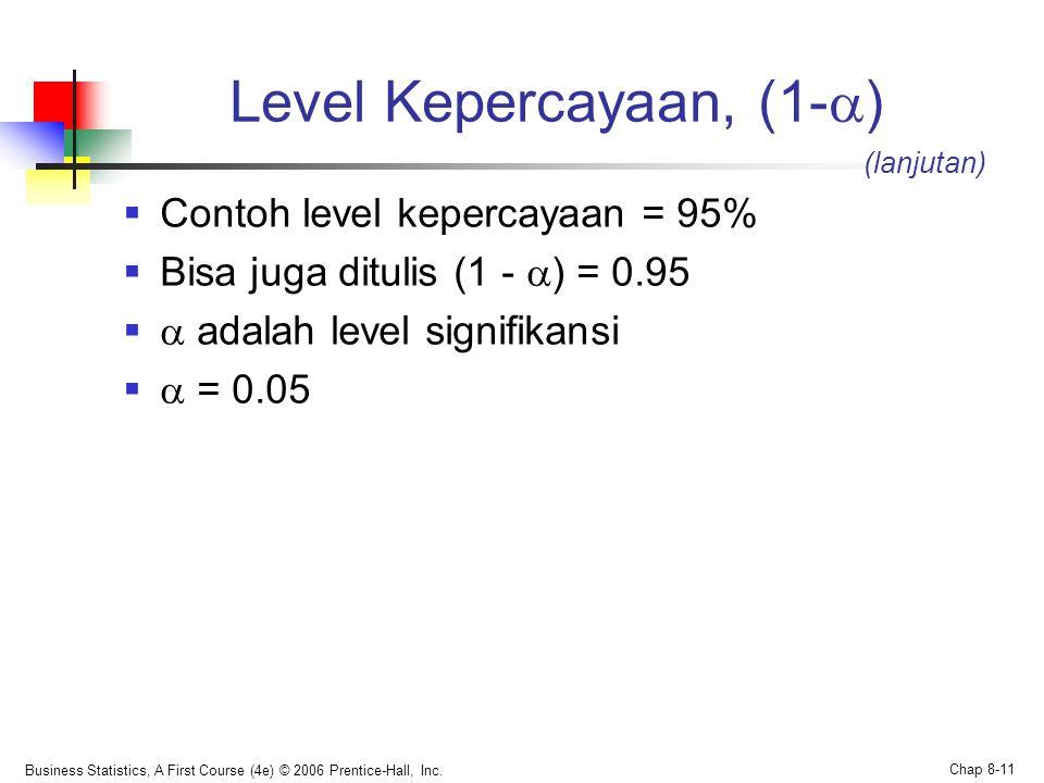 Level Kepercayaan, (1-)