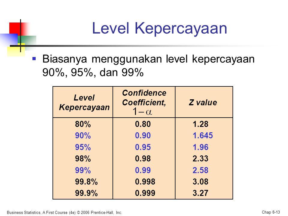 Confidence Coefficient,