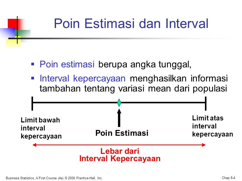 Poin Estimasi dan Interval