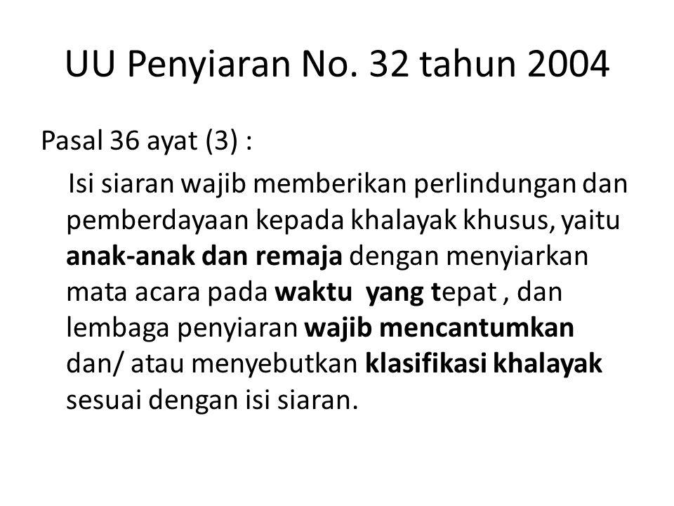UU Penyiaran No. 32 tahun 2004
