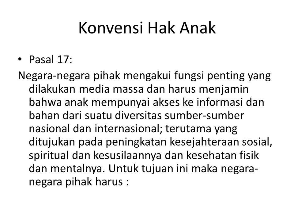 Konvensi Hak Anak Pasal 17: