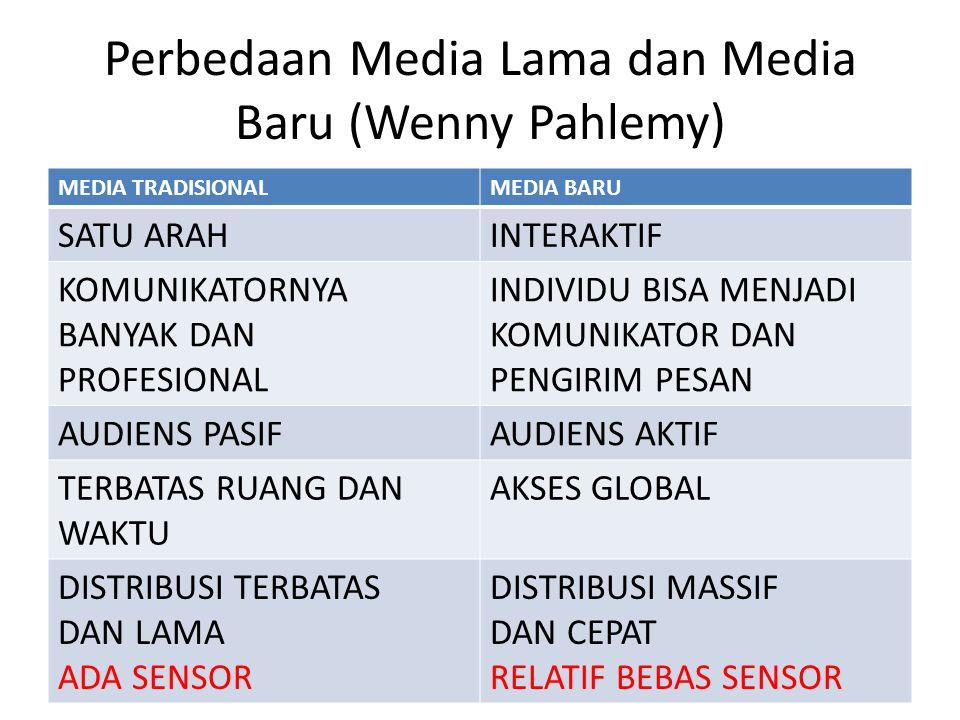 Perbedaan Media Lama dan Media Baru (Wenny Pahlemy)
