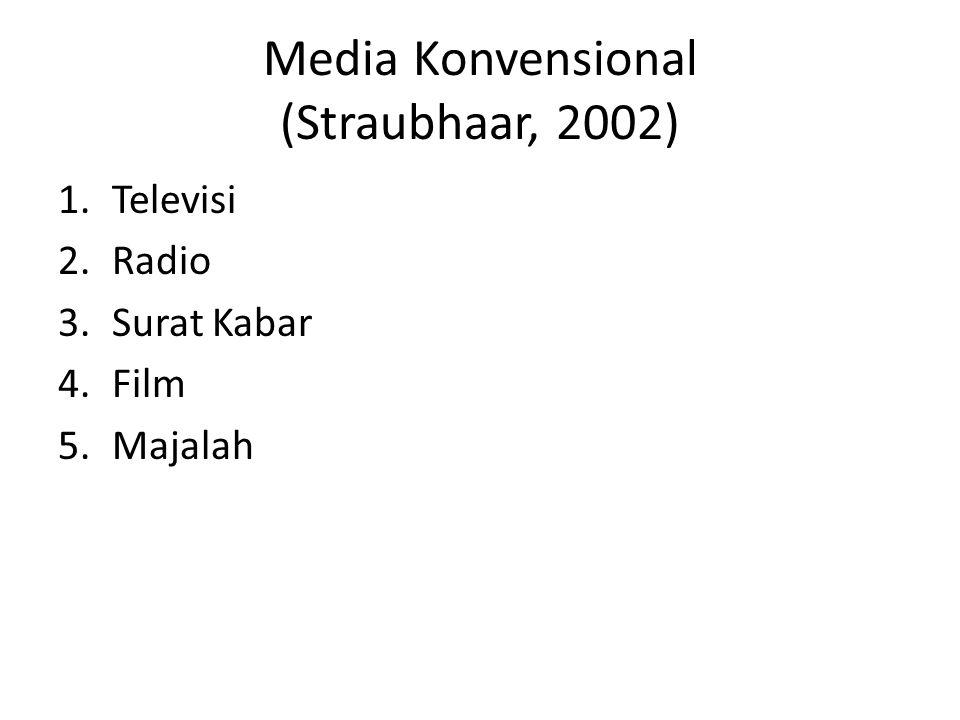 Media Konvensional (Straubhaar, 2002)