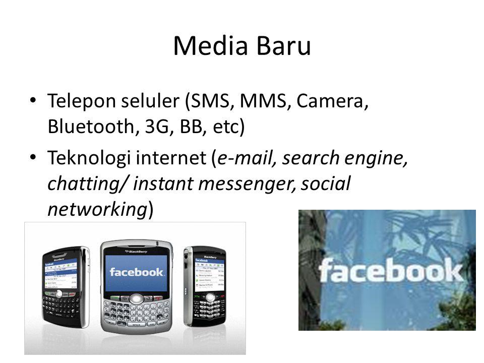 Media Baru Telepon seluler (SMS, MMS, Camera, Bluetooth, 3G, BB, etc)