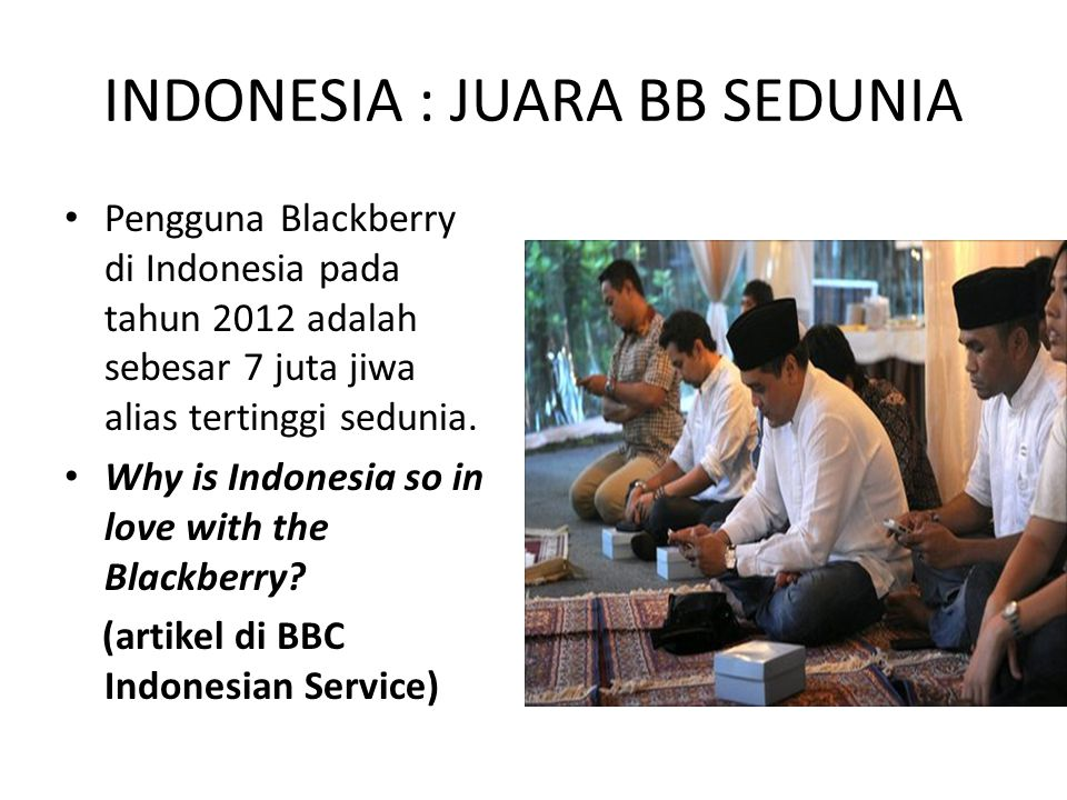 INDONESIA : JUARA BB SEDUNIA