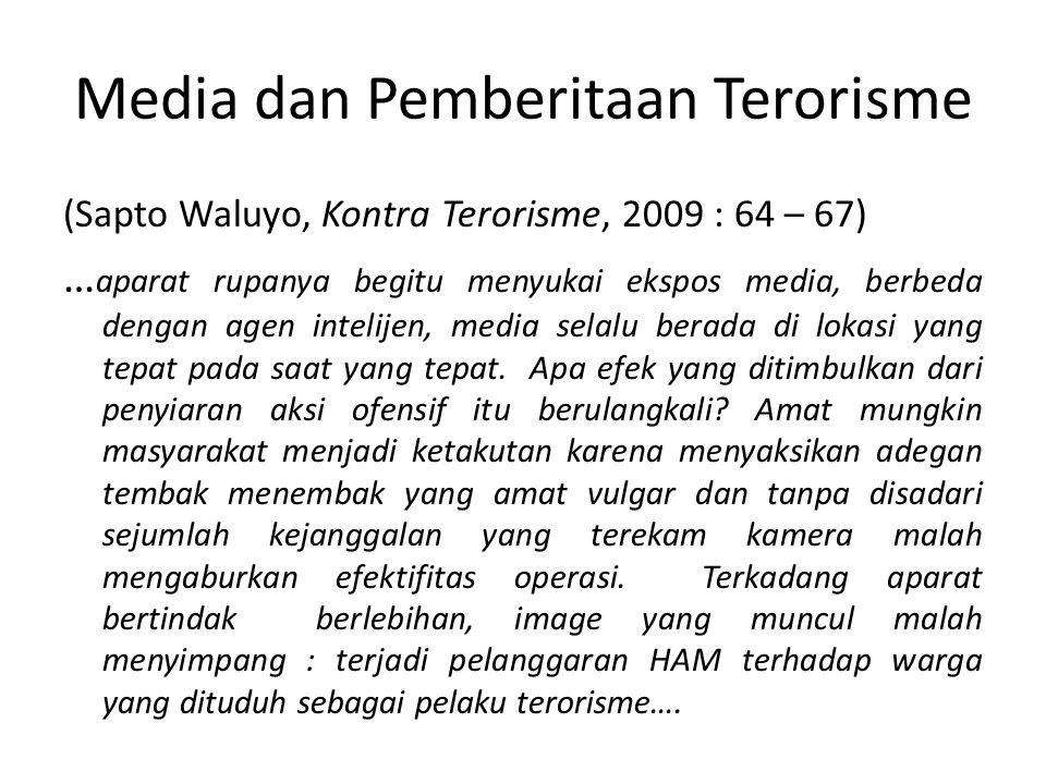 Media dan Pemberitaan Terorisme