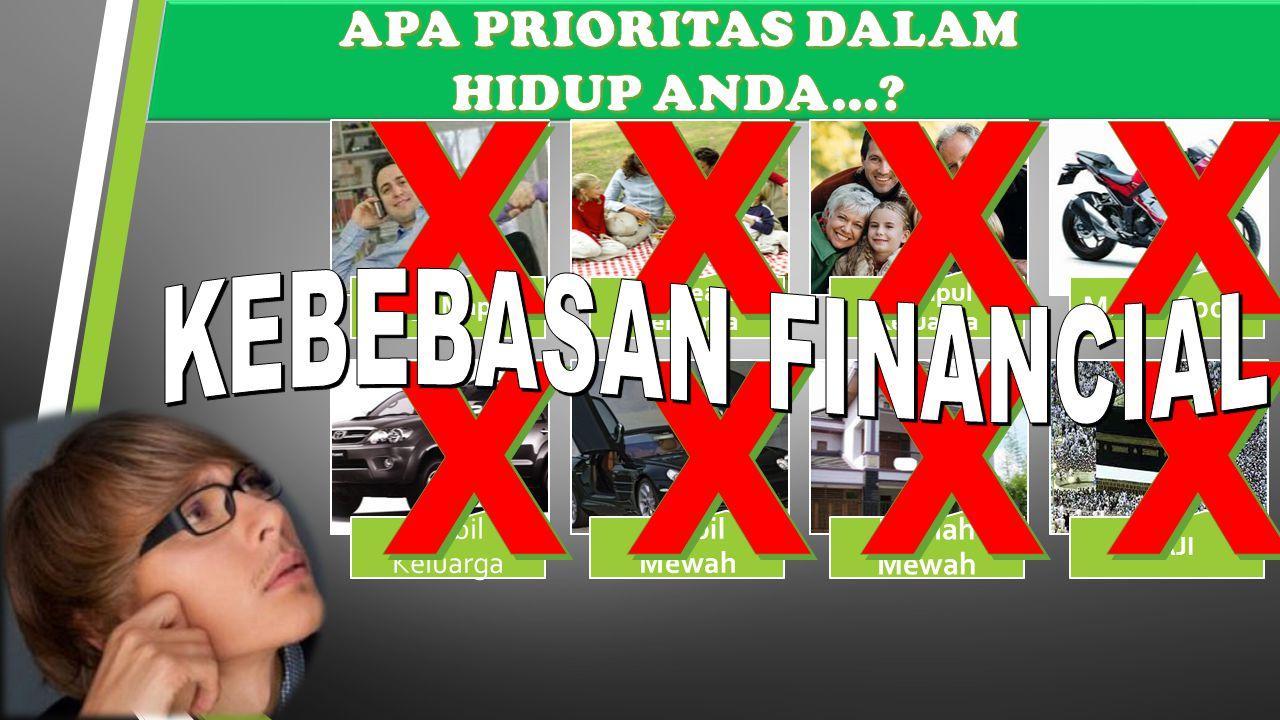 X X X X X X X X APA PRIORITAS DALAM HIDUP ANDA... KEBEBASAN FINANCIAL