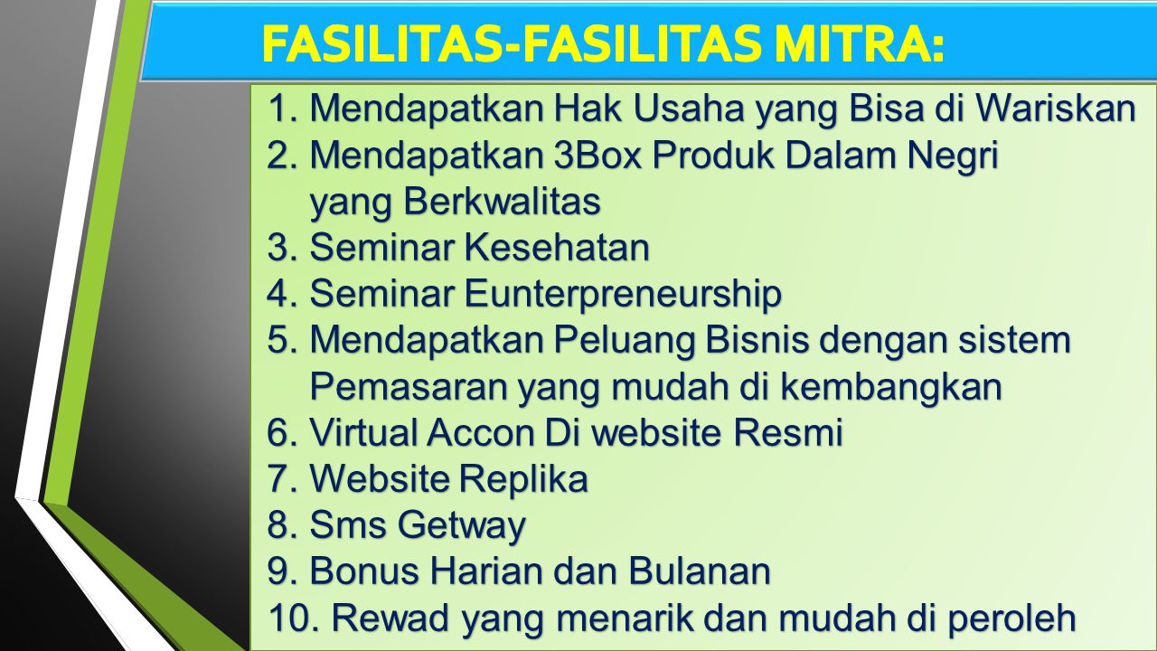 FASILITAS-FASILITAS MITRA: