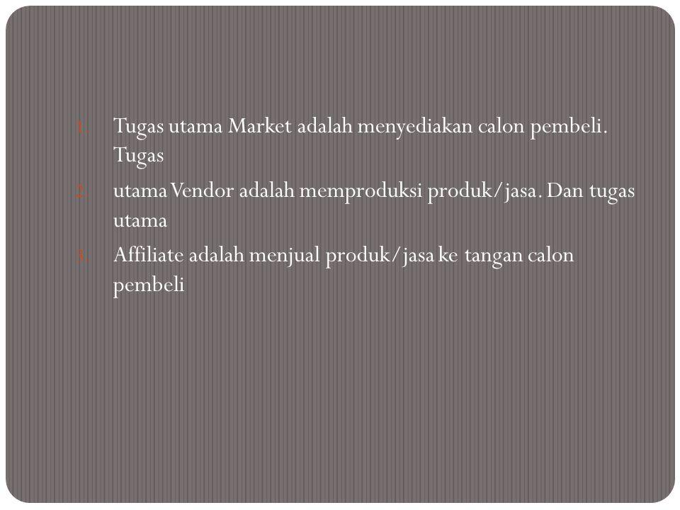 Tugas utama Market adalah menyediakan calon pembeli. Tugas