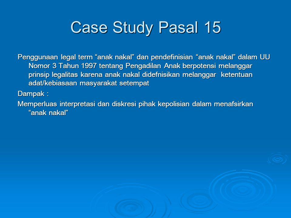 Case Study Pasal 15