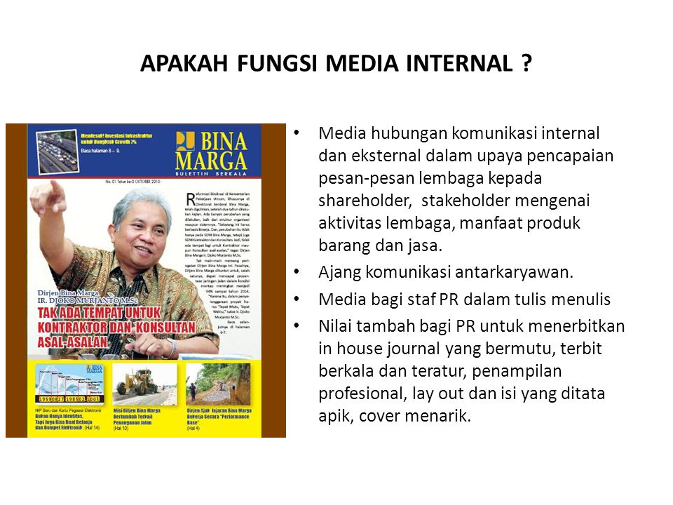 APAKAH FUNGSI MEDIA INTERNAL