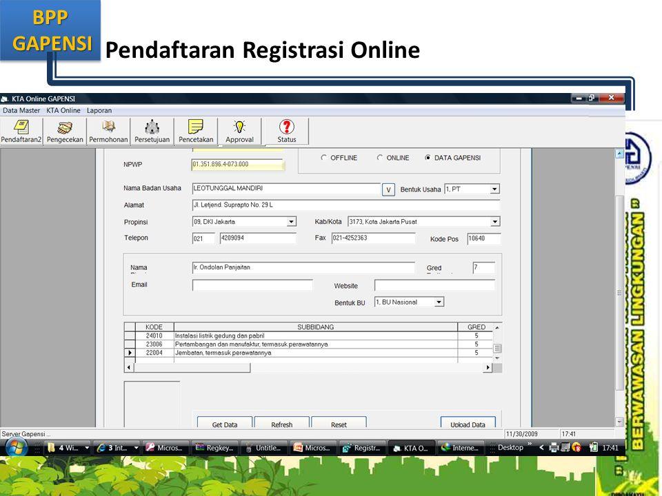 Pendaftaran Registrasi Online