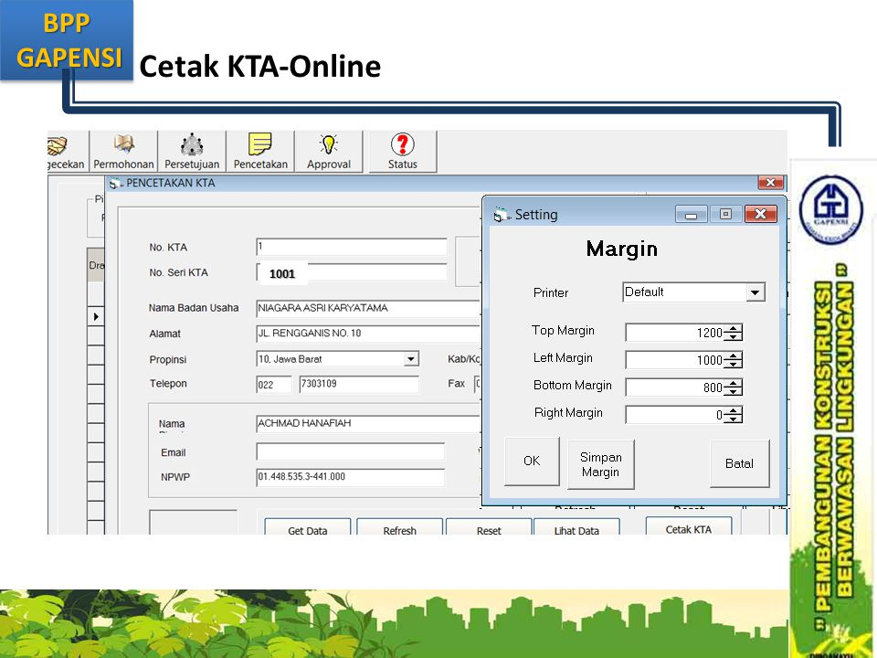 Cetak KTA-Online 1001