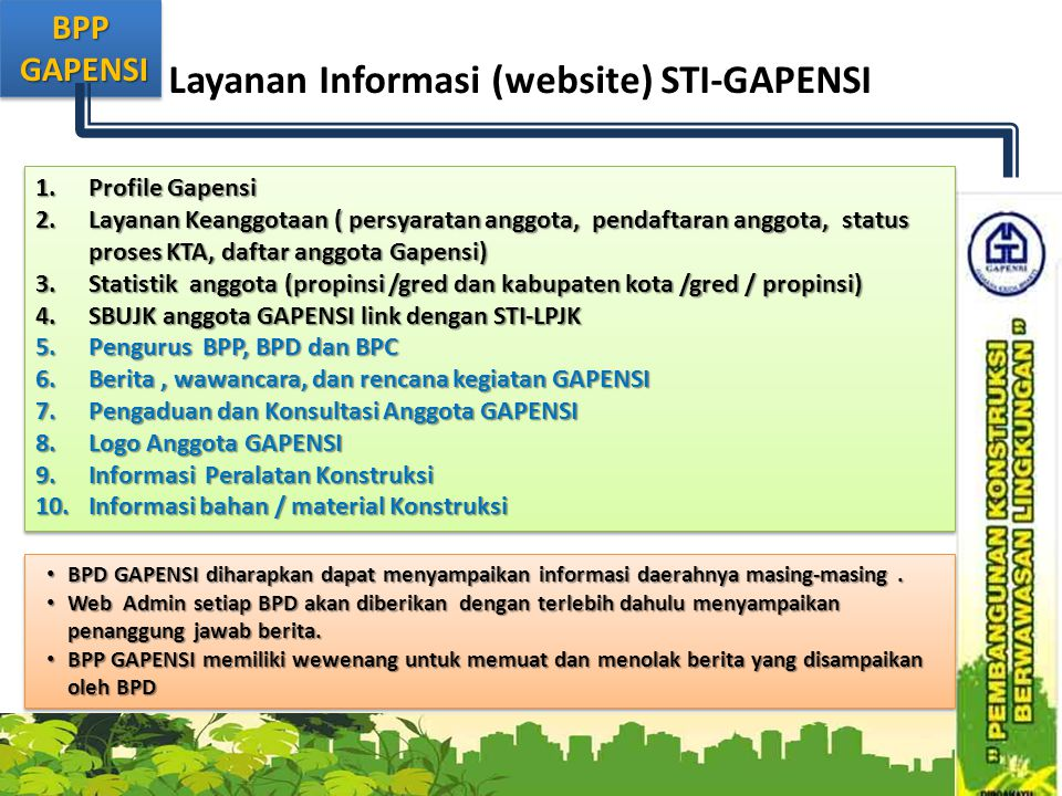 Layanan Informasi (website) STI-GAPENSI