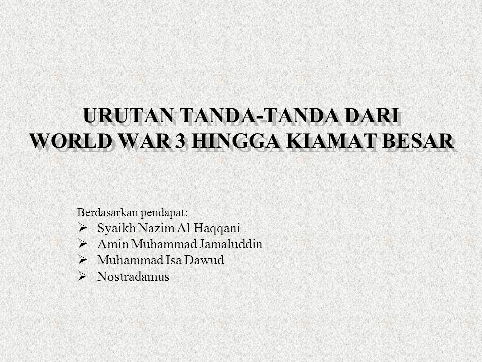 URUTAN TANDA-TANDA DARI WORLD WAR 3 HINGGA KIAMAT BESAR