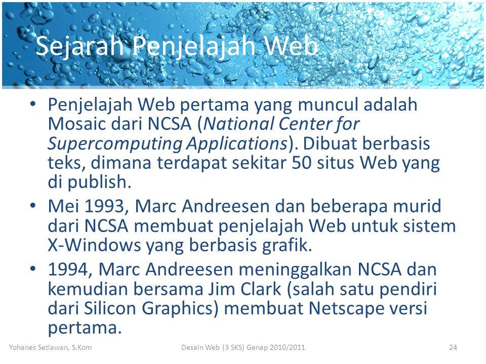 Sejarah Penjelajah Web