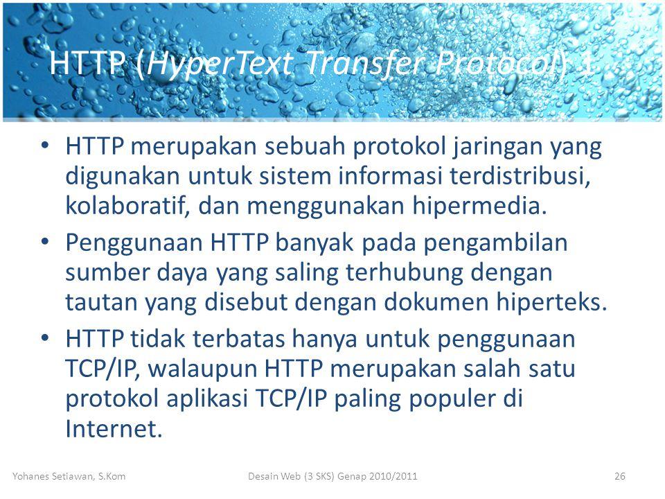 HTTP (HyperText Transfer Protocol) 1