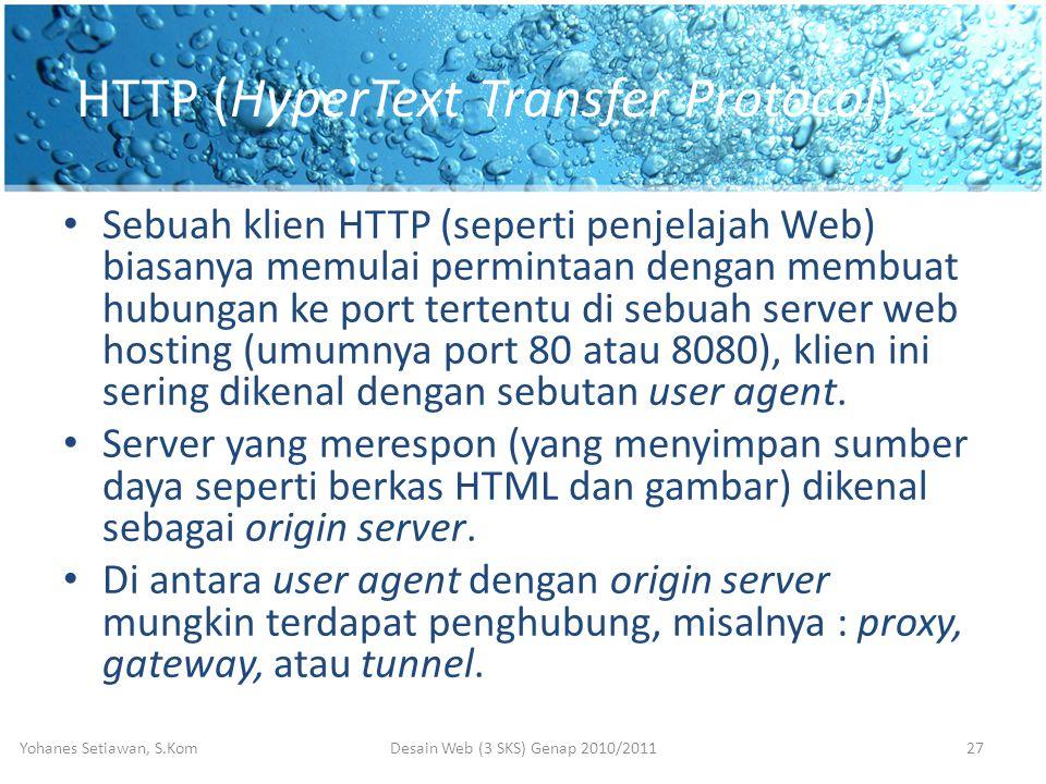 HTTP (HyperText Transfer Protocol) 2