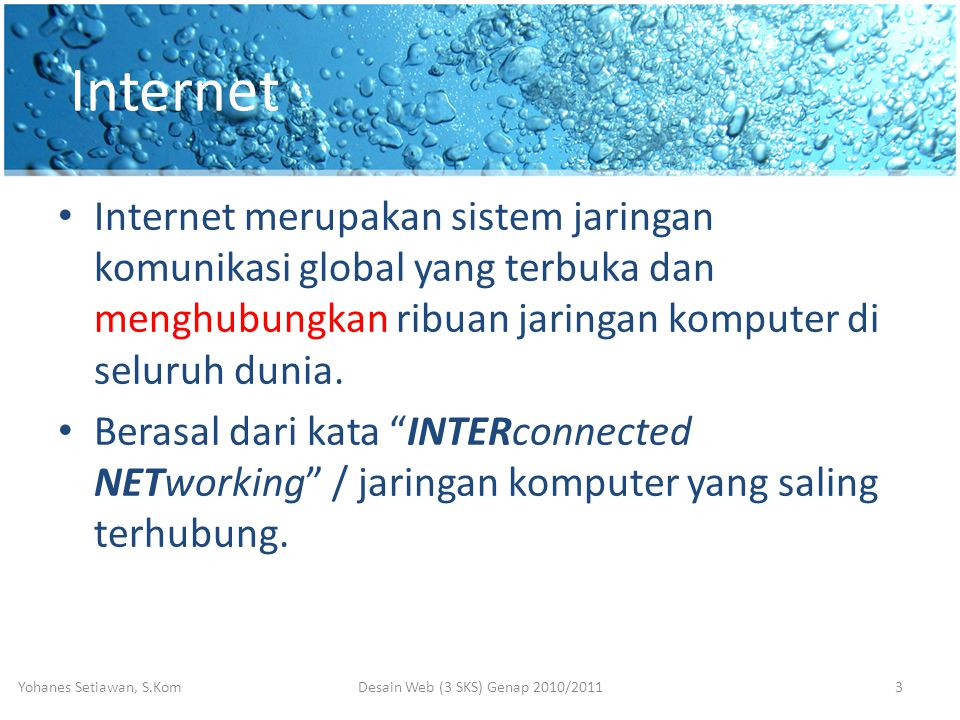 Desain Web (3 SKS) Genap 2010/2011